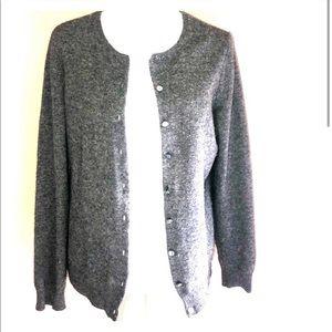 100% Cashmere Gray Sweater